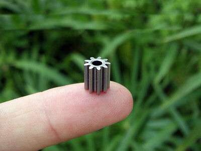 10x Alloy gear Outer diameter 8.1 MM 9 teeth hole 3.15 MM for 550 motor DIY