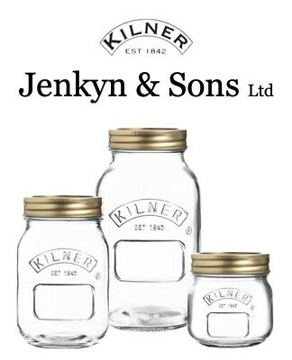 Kilner Preserving Jars Screw Top Glass Preserve Storage Mason Jars