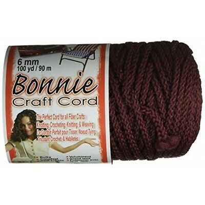 Cordon Artisanal Bonnie Macramé 6mm x 100yd-bordeaux - Macrame Craft Cord