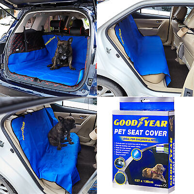 Goodyear Waterproof Car Rear Seat Boot Liner Protector Hammock Floor Cover Dog