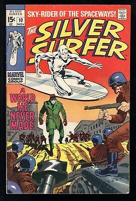 Silver Surfer (1968) #10 1st Print A World He Never Made Stan Lee Buscema VG/FN