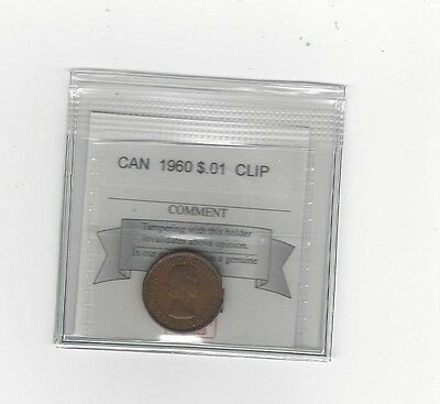 **1960**Coin Mart Packaged Canadian Small One Cent, **Clip**