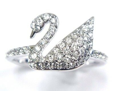 96f26da14 Iconic Swan Clear Crystal Ring Size 8 Eur 58 2016 Swarovski Jewelry 5250744