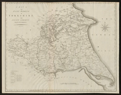 A map of the East Riding of Yorkshire with Ainsty Liberty by John CARY 1805