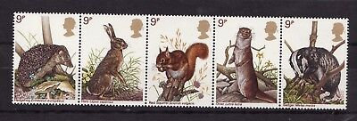 1977 GB,British Wildlife, NH Mint Set of Stamps, SG 1039-43