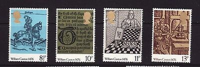 1976 GB, William Caxton,Printing, NH Mint Set of Stamps, SG 1014-17