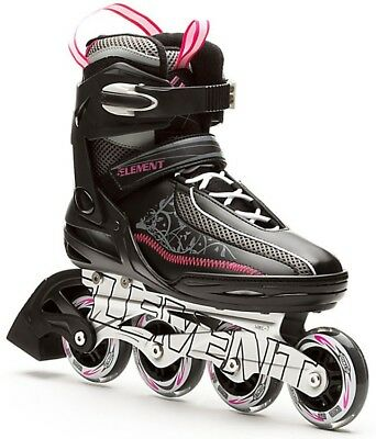 5th Element Lynx LX 2013 Womens Inline Skates Size 7 Black/Purple - NEW