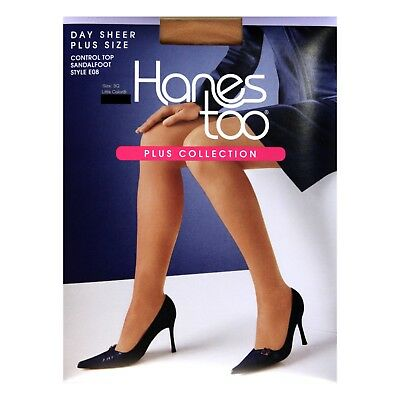 e1a8d4c5d HANES TOO  (1) Pair DAY SHEER Pantyhose PLUS SIZE LITTLE COLOR New ...