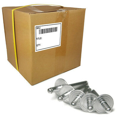 Alum Large Flange Rivets #6-12, 3/16 x 1/2 Grip Blind Rivet Bulk Box - 2,000pcs