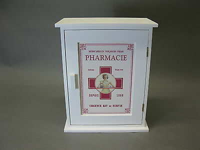 Vintage Country House Home Pharmacy Pharmacy Wall Cabinet 30 cm x 24 cm x 13 Cm