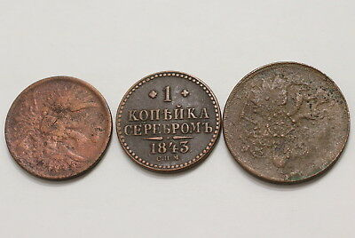 Russia 3 Old Kopeks Coins A98 Rbb39