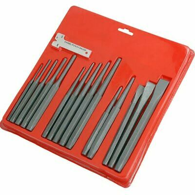 16 Piece Metal Punch And Chisel Set Parallel Drift Pin Brake Centre Gauge Tool