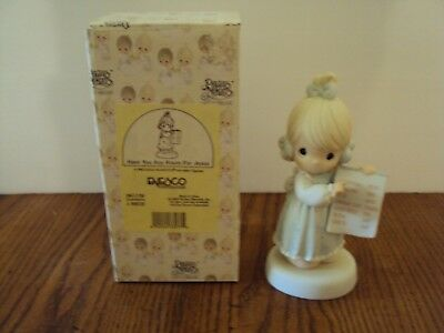 """Precious Moments """"have You Any Room For Jesus"""" 1996 #261136 In Original Box"""