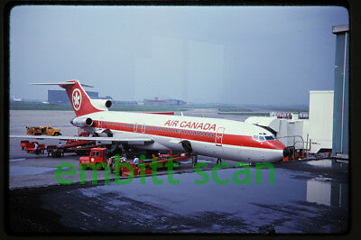 Original Slide, Air Canada Boeing 727-233 (C-GAAL) at Montreal, 1984