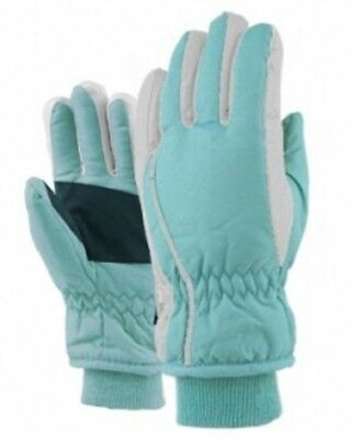 Girls Youth Ski Snow Winter Gloves NWT 7-14 Years NWT Insulated #20227 Aqua Blue