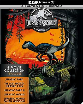 Jurassic World 5-Movie Collection Brand New Sealed 4K Ultra Hd Bluray Set