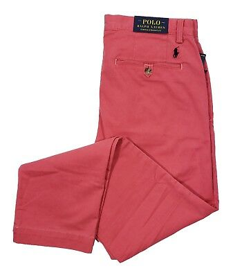 Polo Ralph Lauren Men's Nantucket Red Stretch Straight Fit Chino Pants