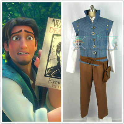 Enchanted Tangled Prince Flynn Rider Vest jacket uniform cosplay costume
