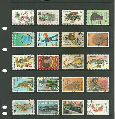 Commonwealth  Zimbabwe Rhodesia     one stock sheet  mix collection stamps