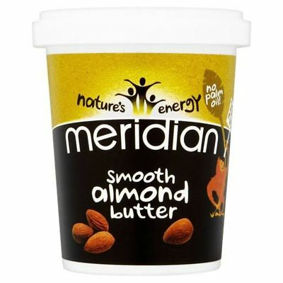 6x Meridian Smooth Almond Butter 100% 454g