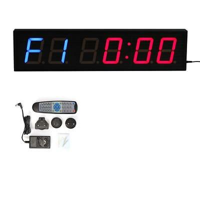 LED Programmable Interval Wall Timer Boxing Sport Crossfit Gym Clock Stop Watch