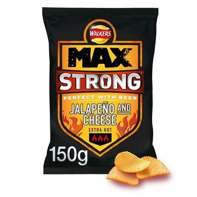6x Walkers Max Strong Jalepeno & Cheese 150g