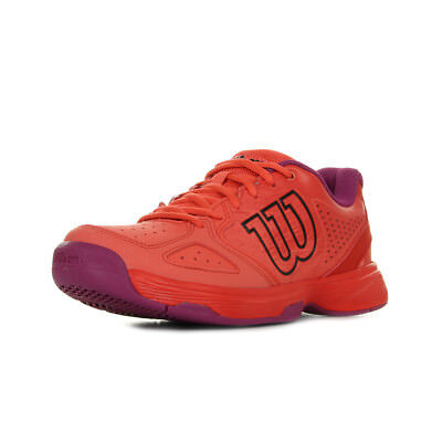 Chaussures Wilson unisexe Kaos Comp Jr Tennis taille Rouge Synthétique Lacets
