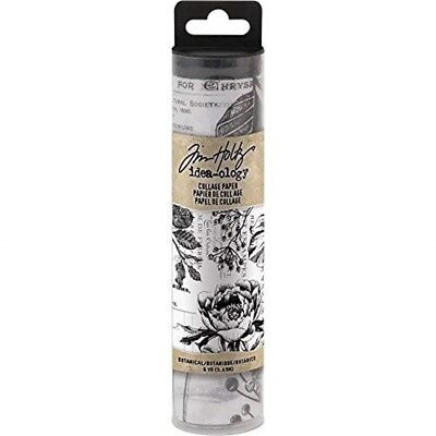 Tim Holtz Idea-ology Collage Paper 6yds - Botanical Th93705 - Ideaology Th Yds
