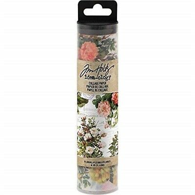 Tim Holtz Idea-ology Collage Paper 6yds - Floral Th93707 - Ideaology Th Yds