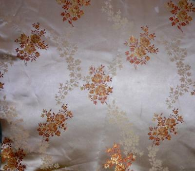 NEW AUTUMN STOCK ANTIQUE/VINTAGE FRENCH SILKY BROCADE c1920s-30s, projects 222.