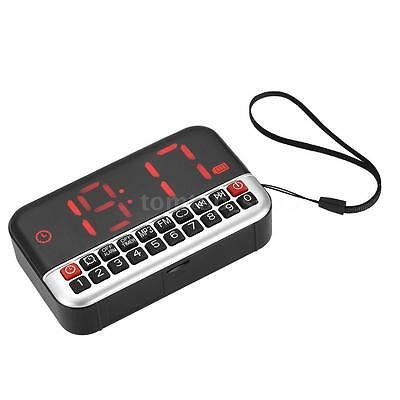 Mini Digital LCD LED FM Radio Speaker Music Player TF Card USB Alarm Clock Z7V9