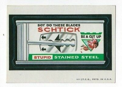 1973 Topps Wacky Packages 2nd Series 2 SCHTICK BLADES wb nm-