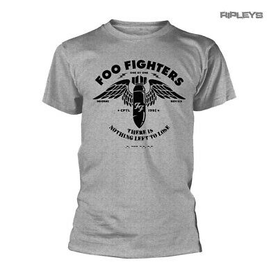 Official T Shirt FOO FIGHTERS Concrete and Gold STENCIL Grey All Sizes