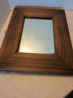 """Vintage Solid wood Mission Style wall FRAMED Mirror 22.5""""T Farmhouse Country"""