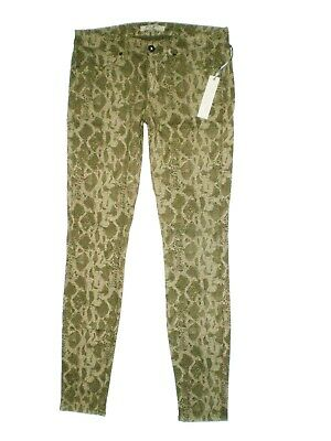 RICH /& SKINNY STRETCH GREEN JEGGING SKINNY JEANS Womens Size 27 28 L30 NEW $149