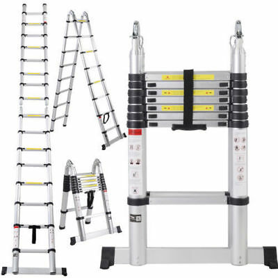 Aluminum Telescoping Extension Ladder Tall Multi Purpose (16.5-foot)
