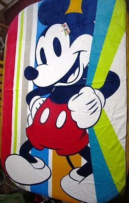 "Disney Store 2016 Summer Fun Mickey Jumbo Beach Towel 40"" x 70"" NWT"