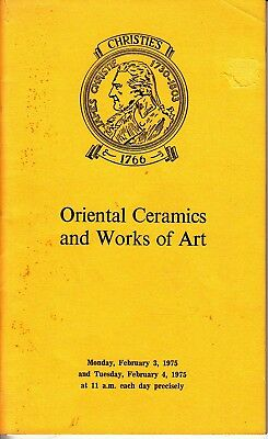 Christie's Oriental Ceramics and Works of Art February 3 4 1975 Auction Catalog