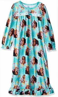 Disney Girls Moana Ocean Grandma Nightgown Size 4 6 8 10 $38