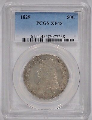 United States 1829 Capped Bust Silver Half Dollar PCGS XF45 50c 32077238