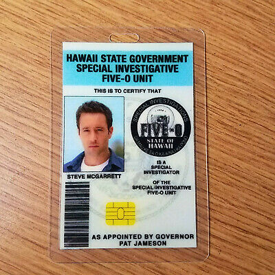 Hawaii Five-O ID Badge-Steve McGarrett costume prop cosplay