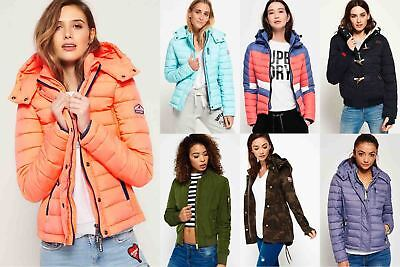 New Womens Superdry Jackets Selection - Various Styles & Colours 081020182