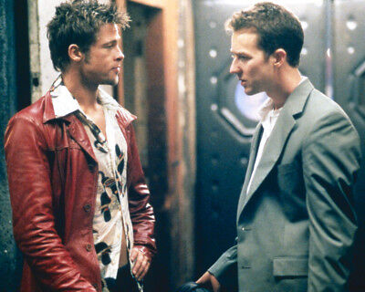 Fight Club Photo Print Brad Pitt Edward Norton Look At Each Other 8X10