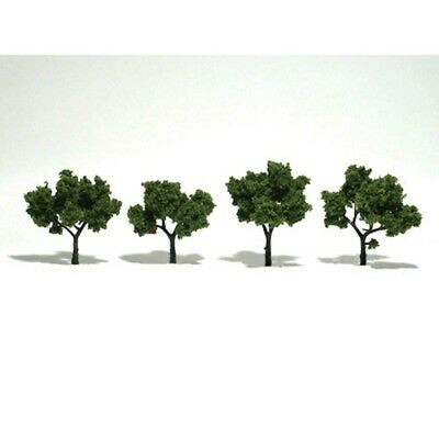 "Woodland Scenics TR1503 Deciduous Trees (5) Light Green 2-3"" (4) Ready-Made"