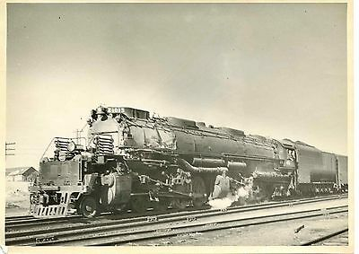 6EE764 RP 1950s? UNION PACIFIC RAILROAD ENGINE #4015 HANNA WYOMING