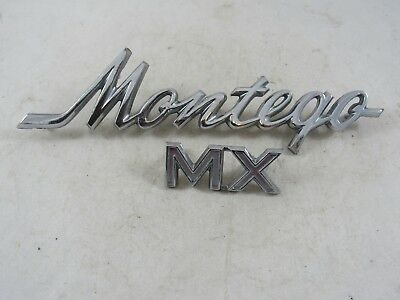 Vintage Set of Original 1968-1974 Mercury Montego MX Script Fender Emblem