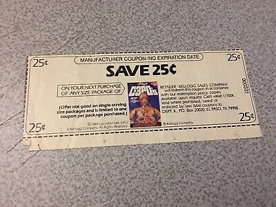 Star Wars Vintage 1984 C-3PO's Cereal Coupon Save 25 Cents RARE Kellogg's