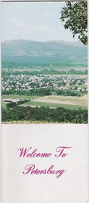 c1970 Petersburg West Virginia City Street Map Brochure