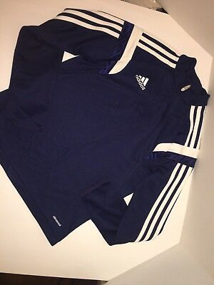 Adidas Climacool Pullover Navy Blue Youth Small