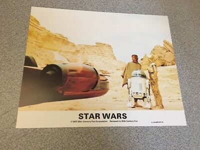 Star Wars British Lobby Card R2-D2 C-3PO Luke Vintage 1977 Foreign RARE